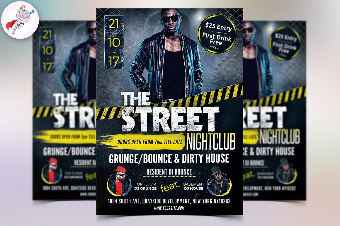 The Street Nightclub Flyer