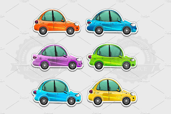 Toy Car Sticker
