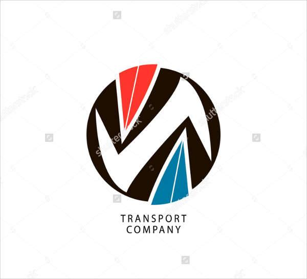 Transport Company Round Logo