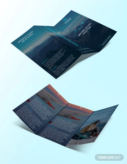 travel agency tri fold brochure template1