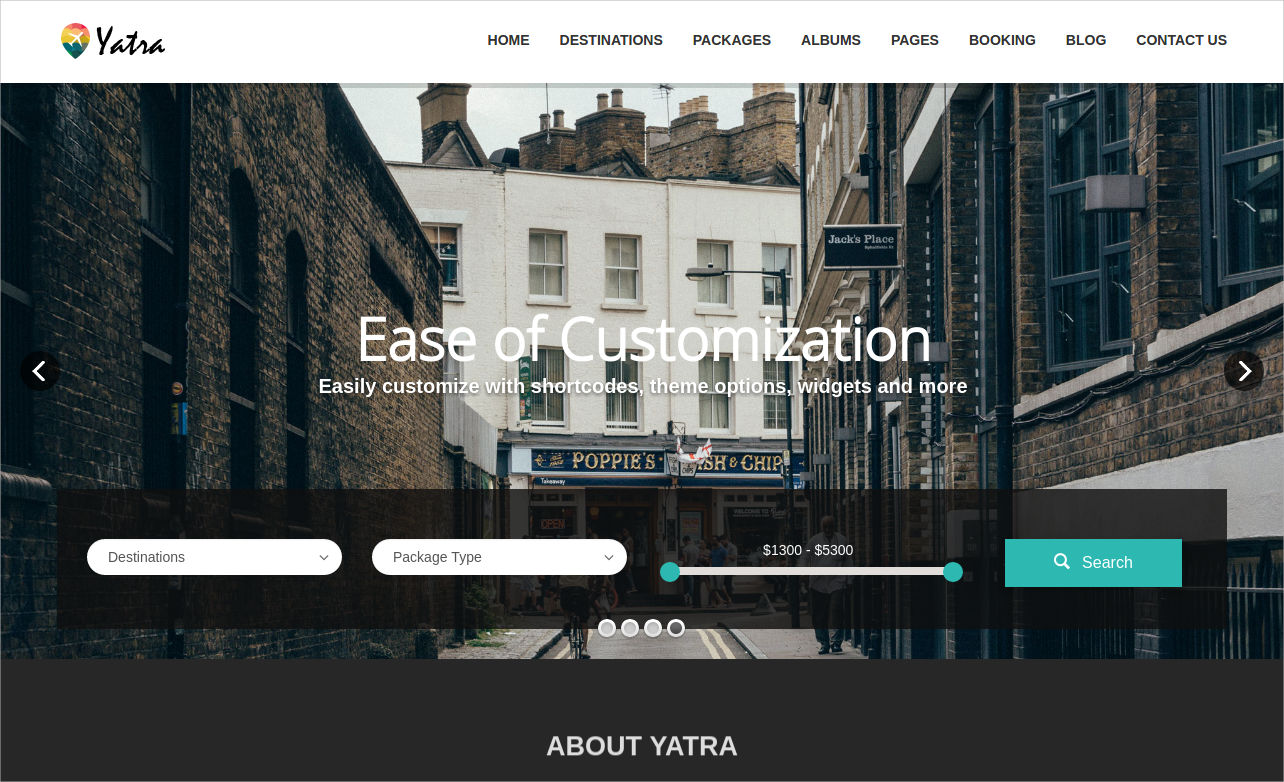 travel booking wp theme