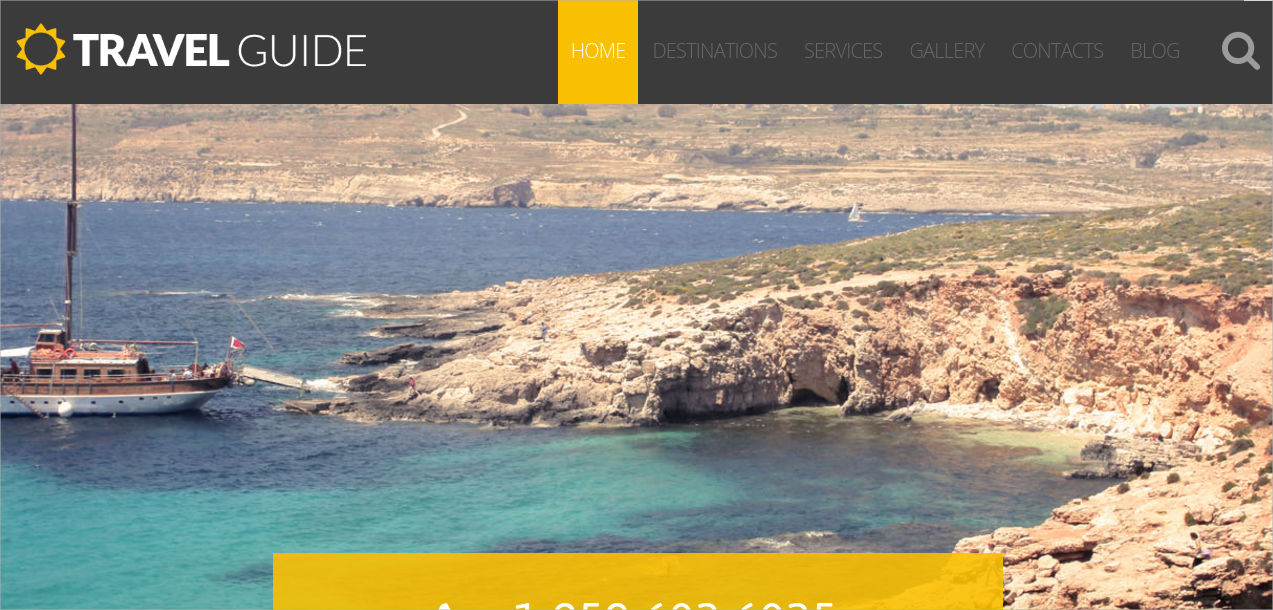 travel guide wordpress template