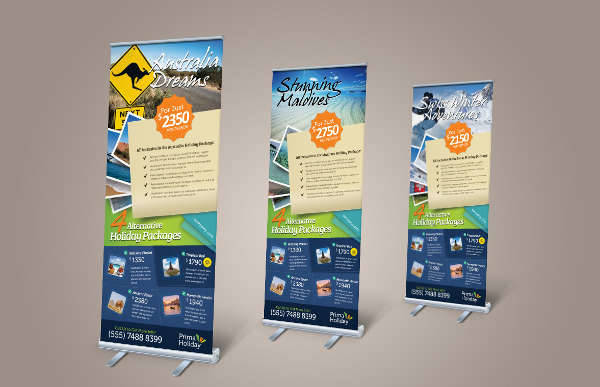 travel holiday banners