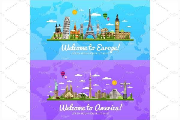 travel tourism graphic illustration