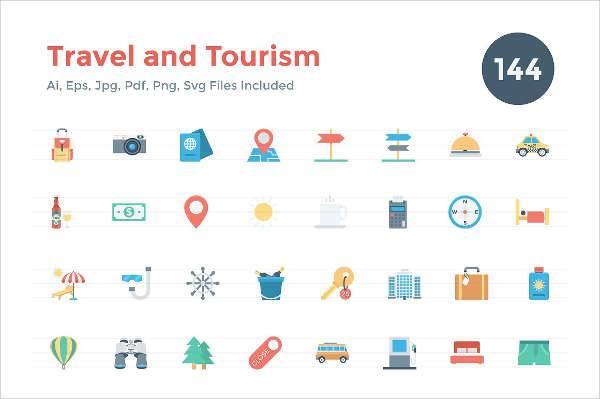 travel tourism icons