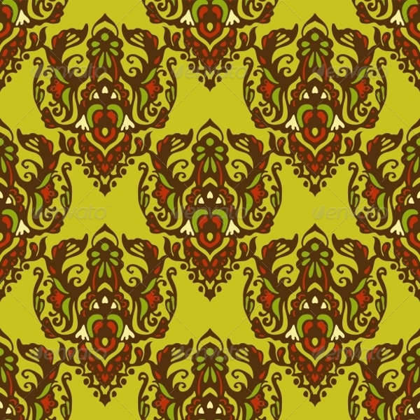 tribal spring flower pattern