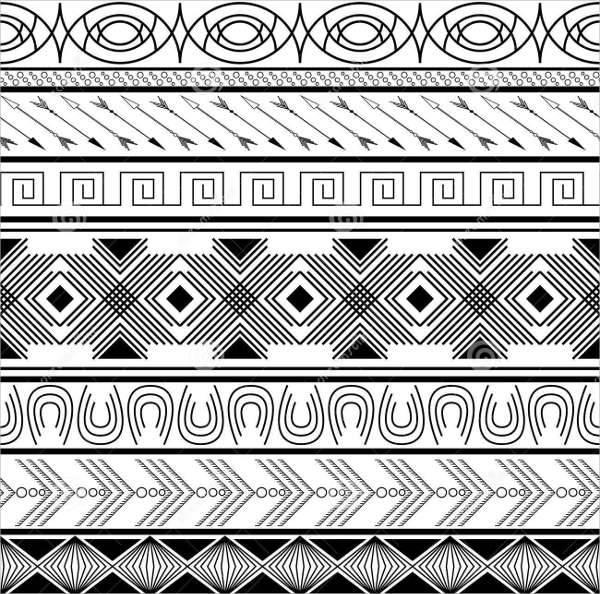 tribal striped pattern