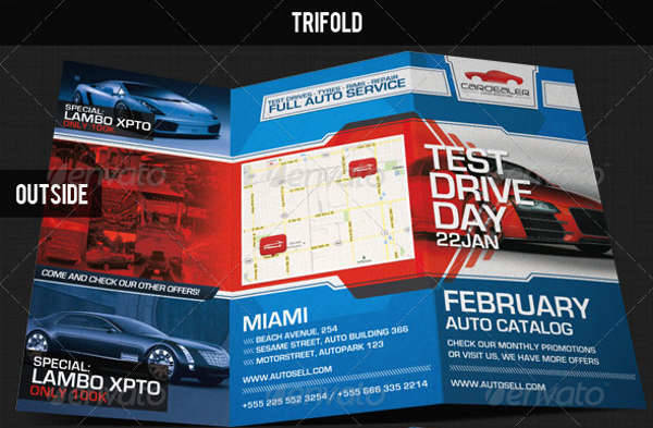 Trifold Business Catalog Brochure