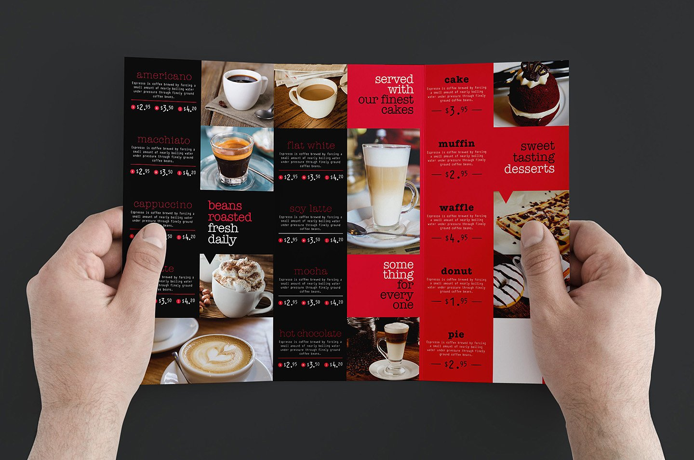 Trifold Cafe Menu