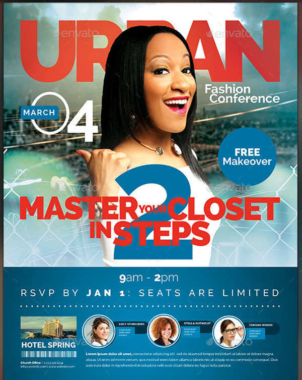 urban fashion conference flyer