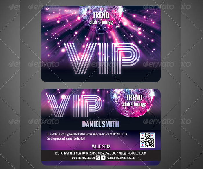 VIP Club Card  Club Card Design