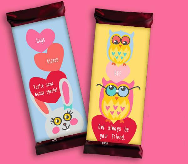 valentines day chocolate wrapper template