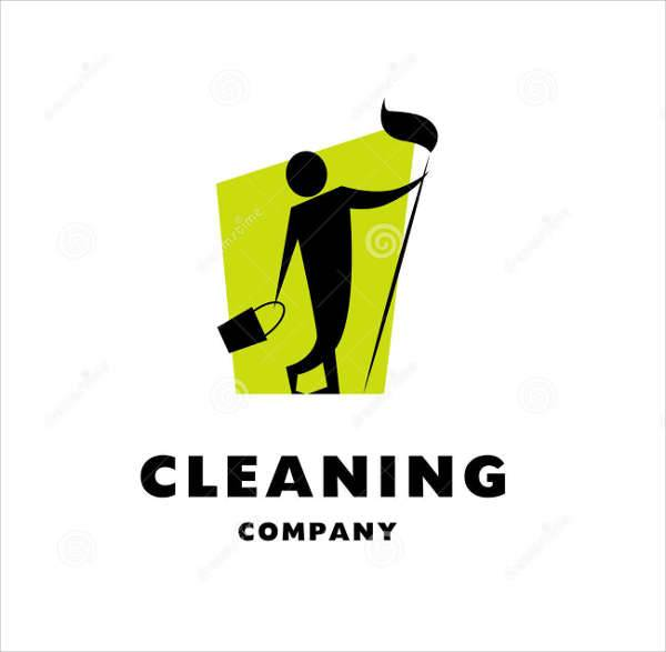 vector cleaning company logo