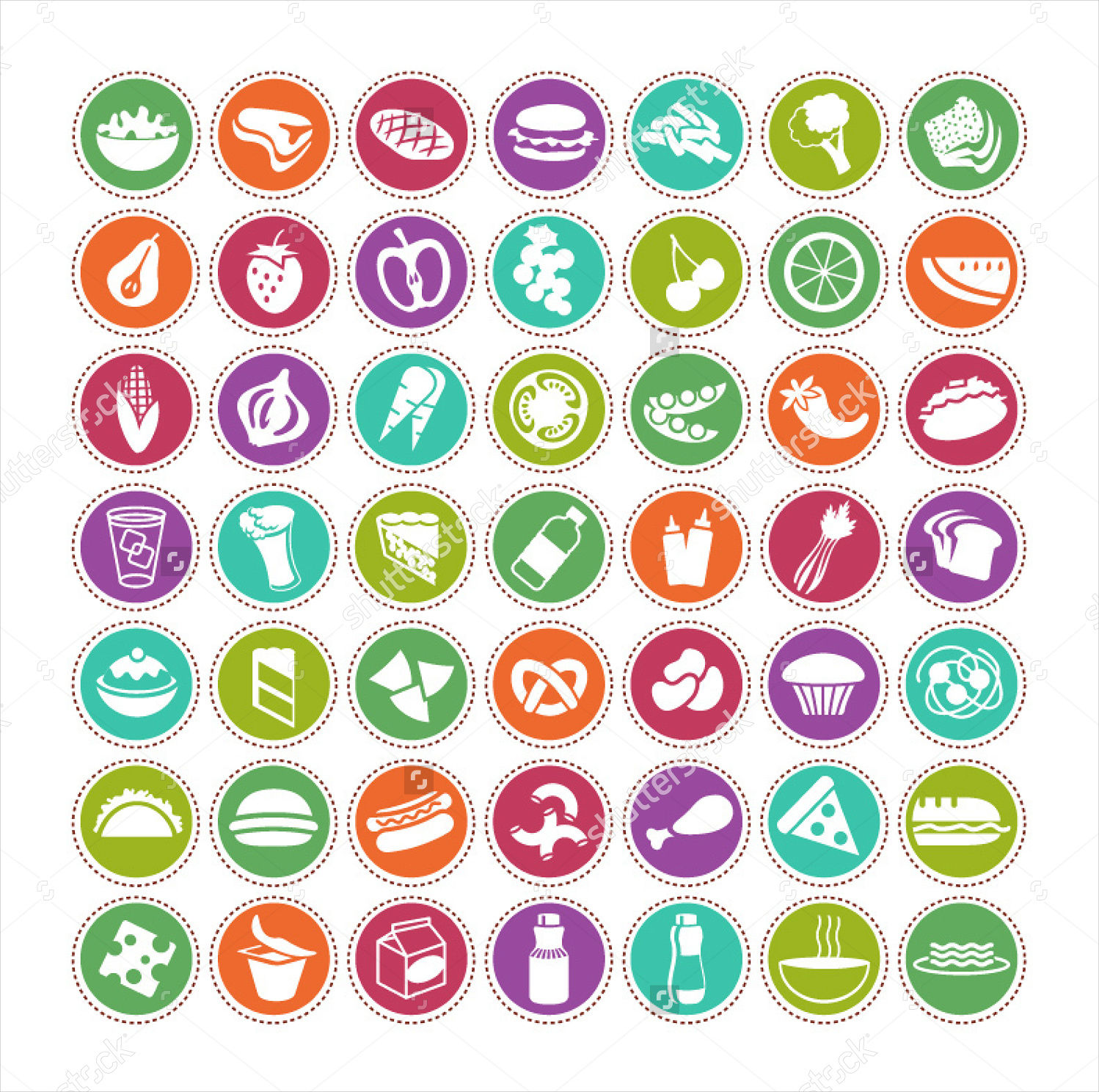 vector food icons1