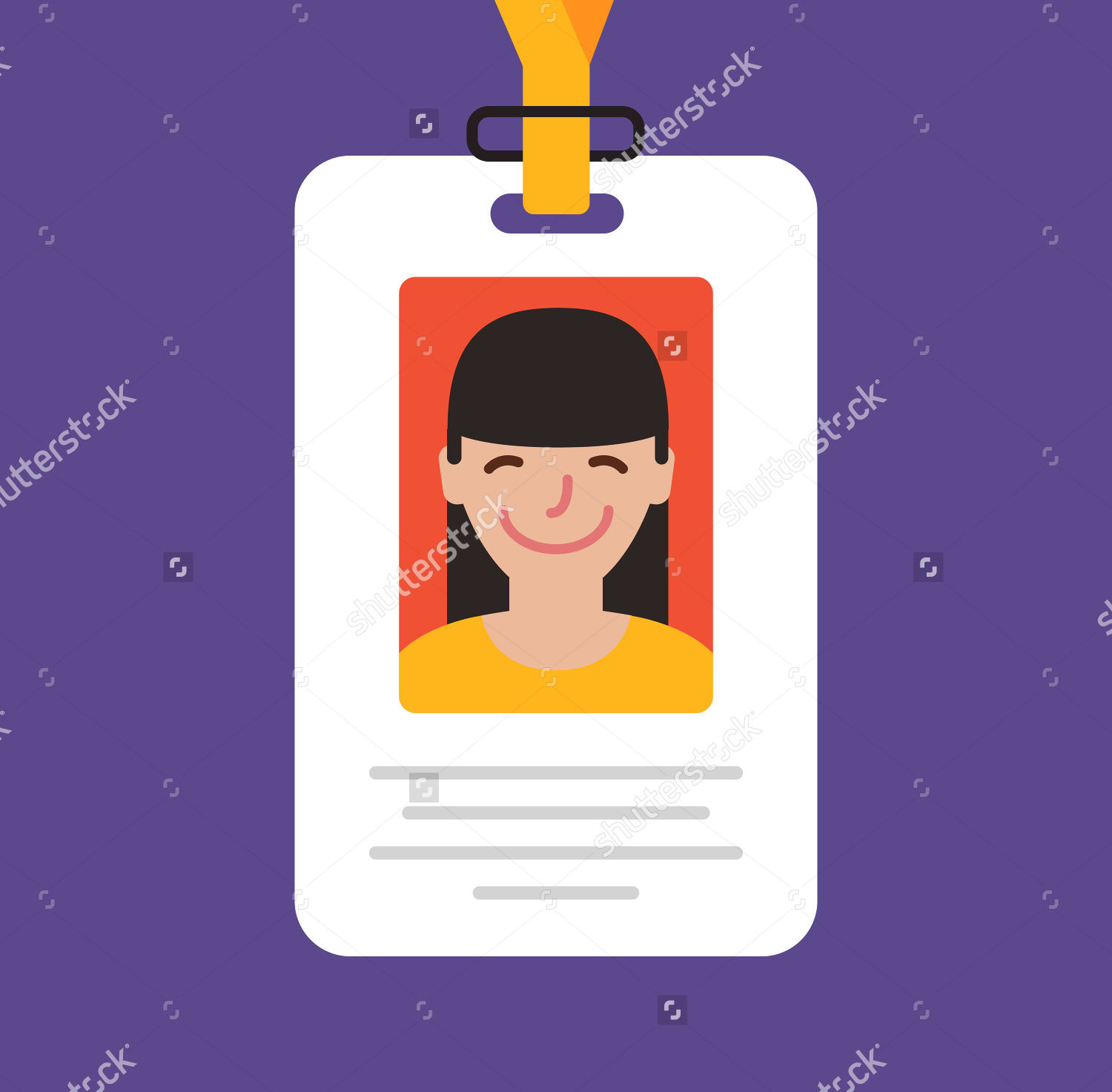 Vector Illustration Id Cards