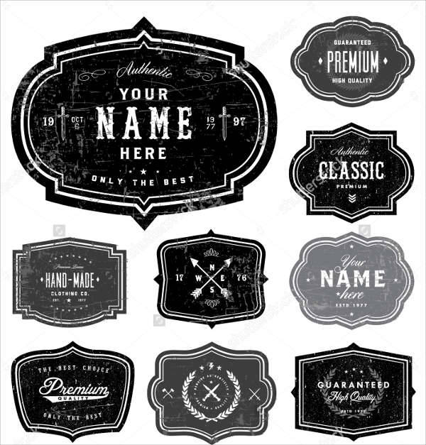 vector logo badges
