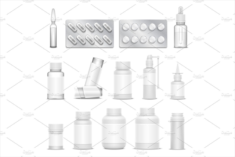 vector medicine packaging