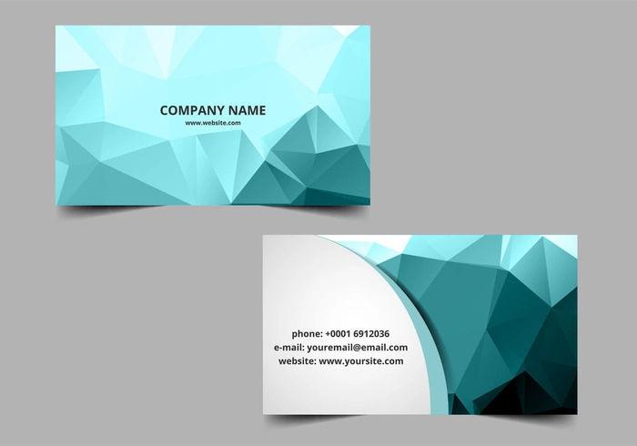 vector polygon visiting card