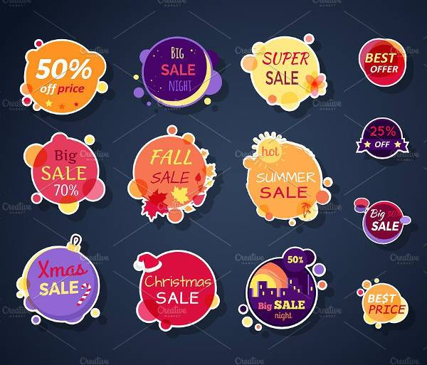Vector Sale Sticker