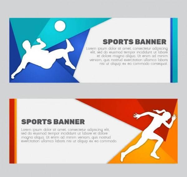 vector sports banner set