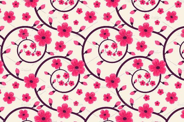 vector spring floral pattern