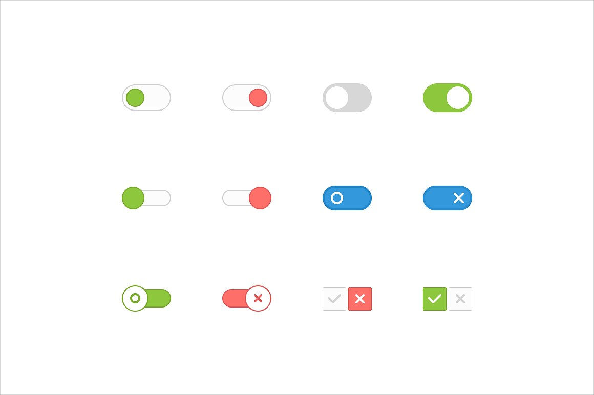 vector toggle buttons