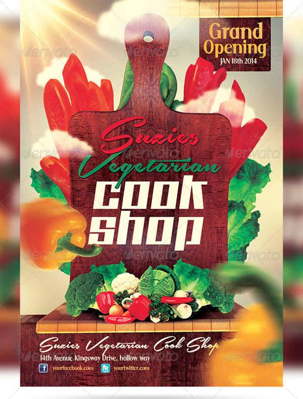 Vegetarian Cook Shop Promotional Flyer