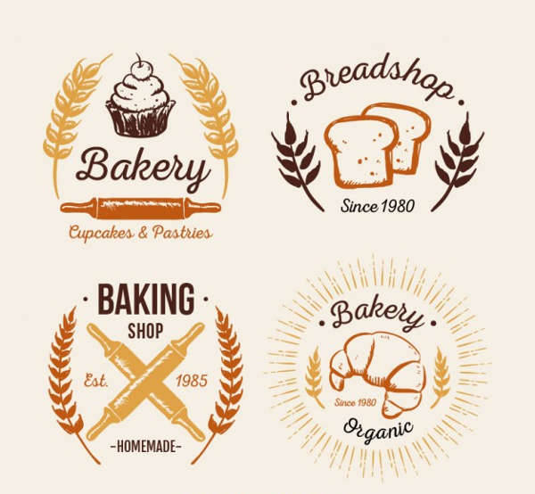Vintage Bakery Logo Pack