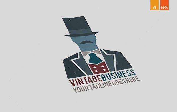vintage business logo design
