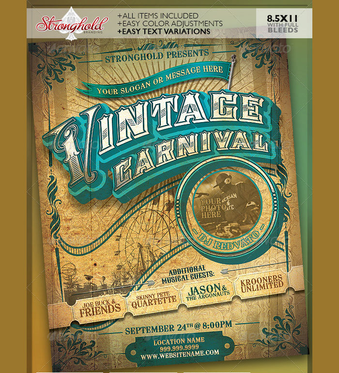 Vintage Carnival Circus Flyer