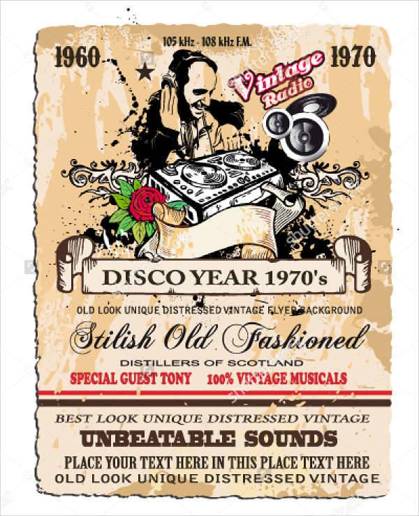 Vintage DJ Flyer