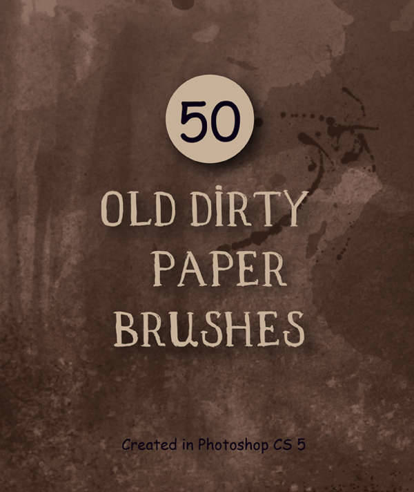 vintage dirty paper brushes