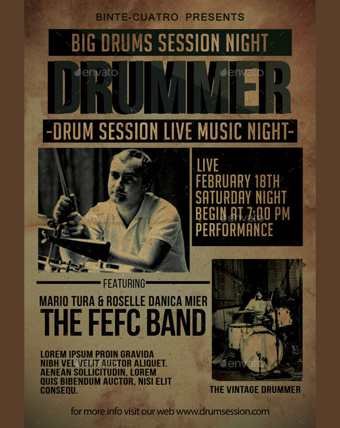 Vintage Drum Session Event