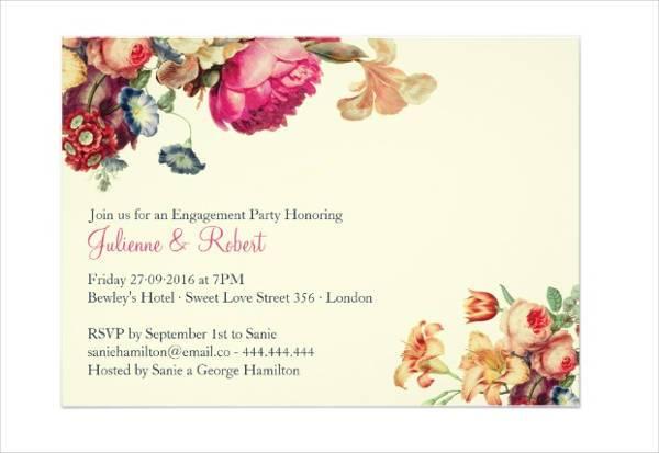 Vintage Engagement Party Invitation