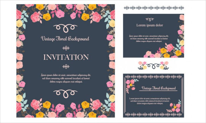 Free photoshop invitation card template free vector