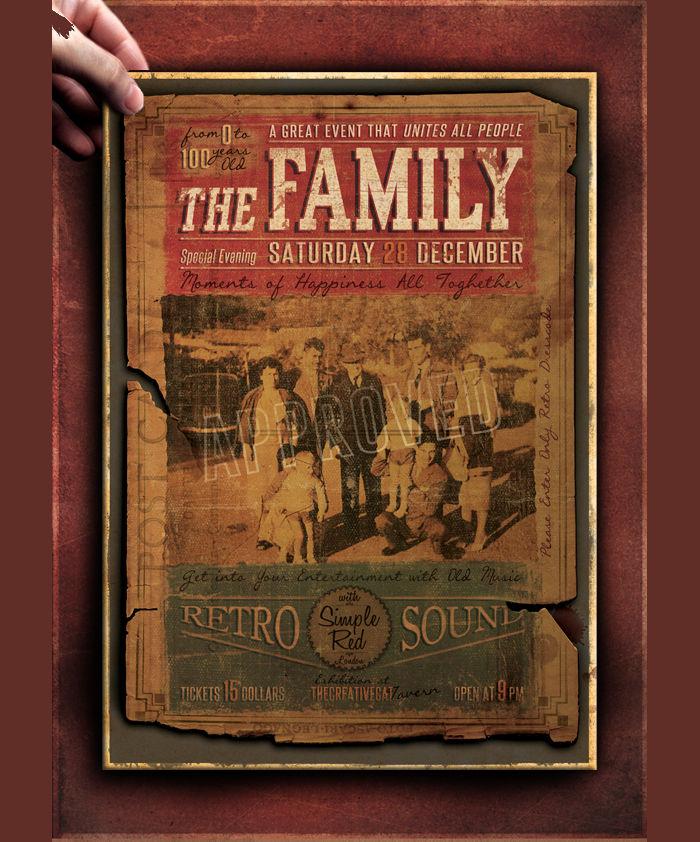 Vintage Flyer Poster Template