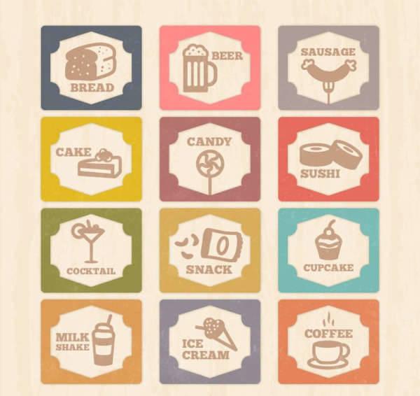 vintage food icons