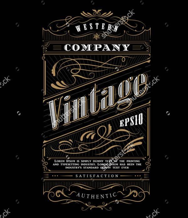 vintage frame typography