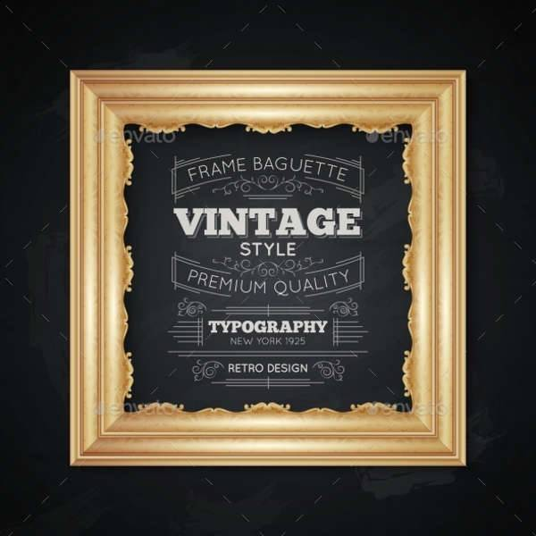 Vintage Frames Illustration
