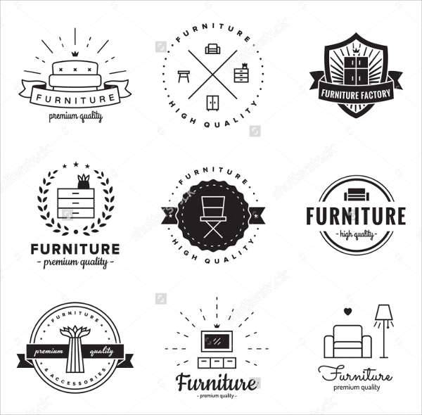 vintage furniture logo design
