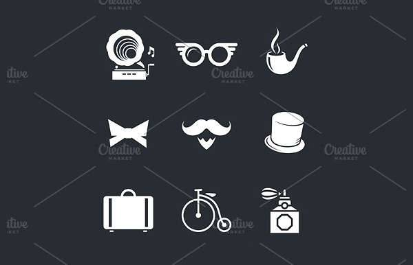 Vintage Hipster Icons