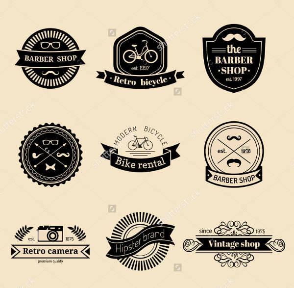 Vintage Hipster Logo Vector