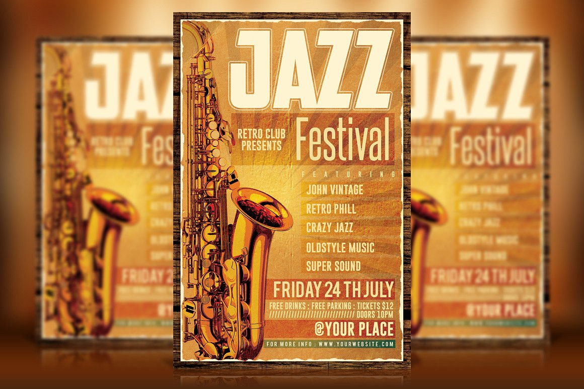 Vintage Jazz Flyer Template