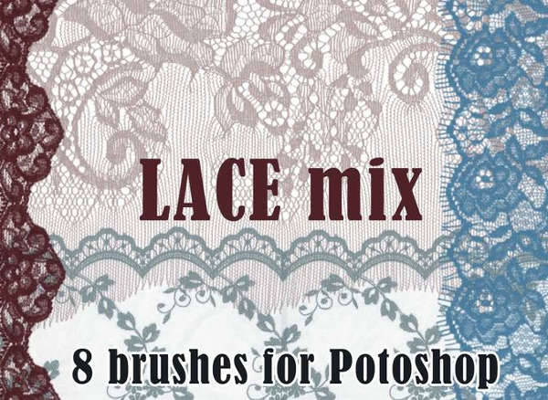 vintage lace brushes