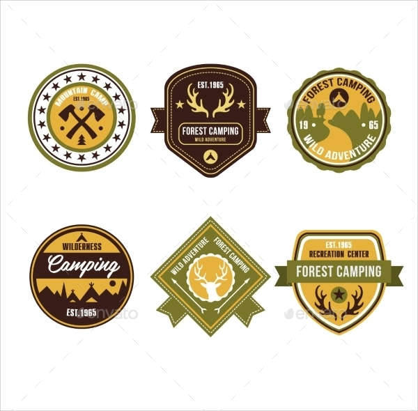 vintage outdoor camp emblem logo