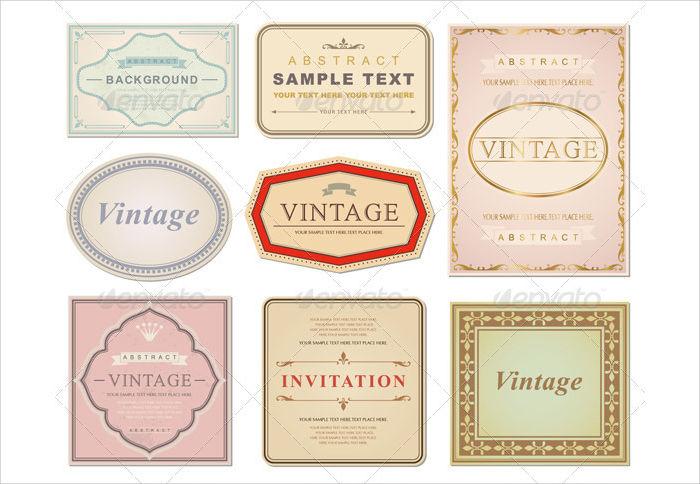 vintage packaging label