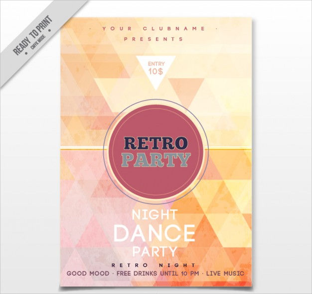 Vintage Party Flyer Design