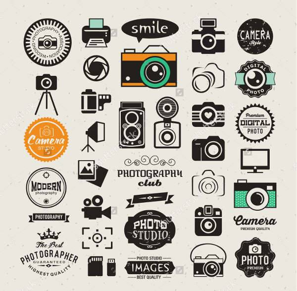 vintage photography icons