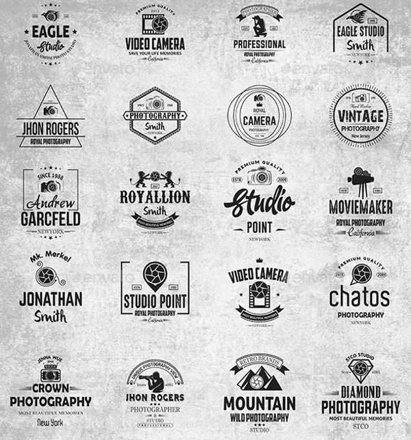 Vintage Photography Logo Badge