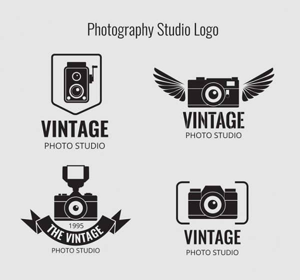 vintage photography logo psd